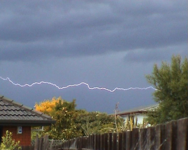 Thunderstorm over Christchurch, I nearly got struck!