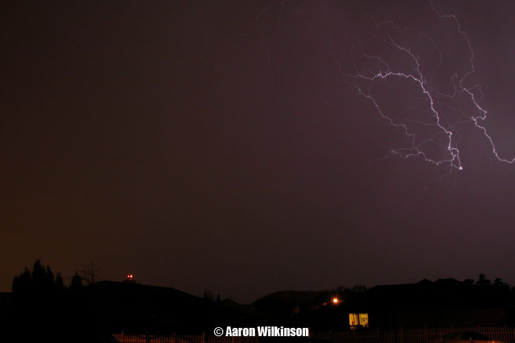 A night time winter thunderstorm in Christchurch?