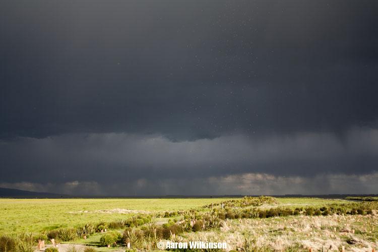 Brief November thunderstorm